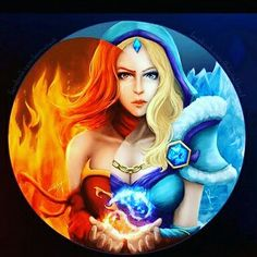 Lina and crystal maiden, both is beautiful