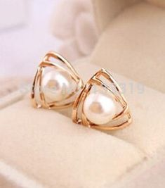 2016 Hot Korean jewelry fashion glossy imitation pearl earrings triangle grams friend Free shipping♦️ SMS - F A S H I O N 💢👉🏿 http://www.sms.hr/products/2016-hot-korean-jewelry-fashion-glossy-imitation-pearl-earrings-triangle-grams-friend-free-shipping/ US $0.28