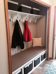 diy entryway closet | DIY closet in entryway | Modern Interior Design Ideas