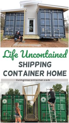 Life Uncontained Shipping Container Home - The Effective Pictures We Offer You About trends shirts A quality picture can tell you many thing - Container Hotel, Building A Container Home, Container Buildings, Storage Container Homes, Container House Plans, Container Home Designs, Shipping Container Cabin, Shipping Containers, Casas Containers