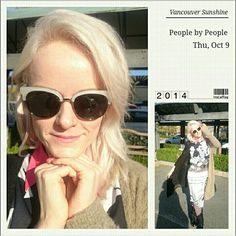 Enjoying the beautiful Vancouver sunshine! My new People by People sunglasses are a must today!