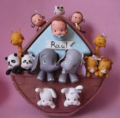 Arca de Noé Menino ( isopor e biscuit) contato carlafelixbiscuit@hotmail.com