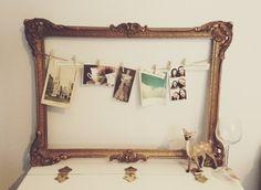Bilderrahmen vintage selber machen  bilderrahmen selber machen rustikaler rahmen | DIY - Do it ...
