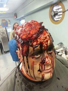 Halloween - Latex flesh wound, Ben Nye liquid latex, cream stick ...