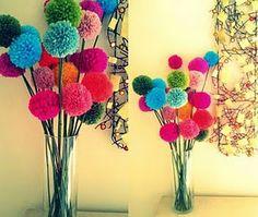 bouquet de pompons