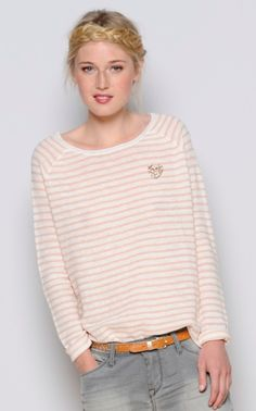 Fabulous stripe lightweight knit from Des Petits Hauts - will also be coming in yellow!