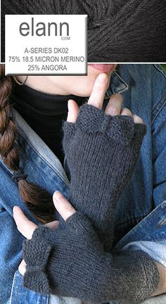 Fingerless Mitts with a Bow