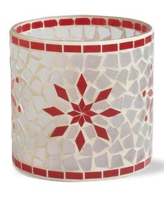 Snowflake Mosaic Glass Votive Candleholder by Next Christmas Collection on #zulily today!