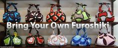 Furoshiki.com - This site is really cool!  The techniques section has graphic tutorials on many furoshiki folds to make bags, handbags, backpacks, gift wraps and even belts.  A great reuse for any square piece of fabric or for all those scarves you have that never get used.