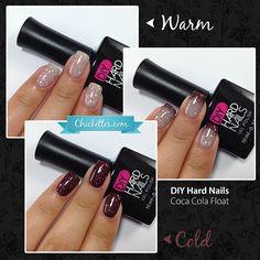 DIY Hard Nails color changing gel polish - Coca Cola Float