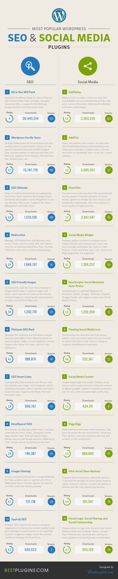 Most Famous Seo and Social Media Plugins