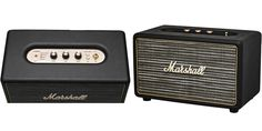 Marshall Bluetooth Speaker.  This Bluetoothspeaker has amazing crisp highs and rounded lows that thud. Marshall knows how to make speakers. And the best part is… it is LOUD