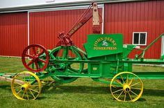 Antique Tractors, Old Tractors, John Deere Tractors, Antique Cars, Agricultural Implements, Tractor Accessories, John Deere Equipment, Baler, International Harvester