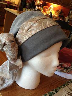 Head hugging cap from a tee shirt. http://dawndavis.blogspot.com/2013/01/hats-hats-hats.html    Instructions here: http://www.headhuggers.org/patterns/spatt01.htm