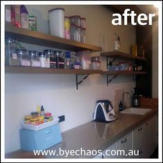 """""""This is going to change my life!"""" my client said this morning as we were working on the walk-in pantry.  #geelong #geelongbusiness #bellarine #bellarinepeninsula #bellarinebusiness #professionalorganisergeelong #declutteringbellarine #declutter #gtown #clean #womeninbusiness #mumpreneur #businesswoman #pantry #thermomixaus #organised #professionalorganiser by byechaos http://ift.tt/1JO3Y6G"""