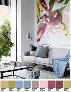 Pantone Colors of the Year 2016 Rose Quartz & Serenity KitchAnn Style Colorful Interior Design, Decor Interior Design, Colorful Interiors, Interior Design Living Room, Living Room Designs, Living Rooms, Decoration, Art Decor, Room Decor