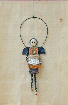 ⌼ Artistic Assemblages ⌼  Mixed Media & Collage Art - Domino Angel  Original Mixed Media by Indiandollartworks on Etsy,