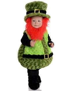 Check out Toddler Lil Leprechaun Belly Baby Costume - Humorous Costumes for Babies from Wholesale Halloween Costumes