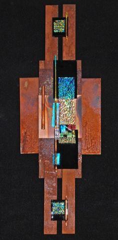 "Contemporary Mixed Media - ""Copper Piece"" (Original Art from Elizabeth Dunlop Studios)"