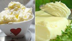 Homemade butter of sweet and sour cream NejRecept.cz - Homemade butter of sweet and sour cream NejRecept. Home Canning, Homemade Butter, Sweet Desserts, Sour Cream, Tart, Brunch, Food And Drink, Healthy Recipes, Cheese