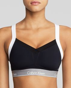 Calvin Klein Underwear Sports Bra - Medium Impact Colorblock Convertible #QF1085 | Bloomingdale's
