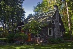 Log Cabin in the Woods | Built in 1929 and restored in 2006. The rustic charm was maintained ...