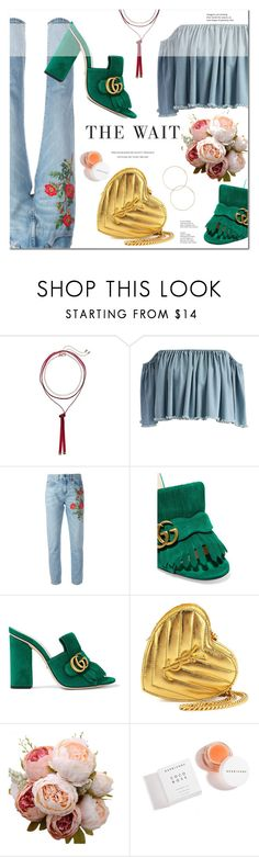 """My Little Heart"" by fee4fashion on Polyvore featuring Steve Madden, Chicwish, Gucci, Yves Saint Laurent and Herbivore"