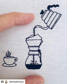 I like my coffee like I like my embroidery; tasty and hand crafted. #regram @damlaatmaca 3rd wave kanavic #coffee #handembroidery #coffeelover #filtercoffee #creativityfound #mrxstitch via The Mr X Stitch official Instagram Share your stitchy 'grams with us - @mrxstitch #xstitchersofinstagram #mrxstitch