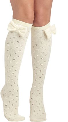 Modcloth Beige Baking Date Socks in Vanilla