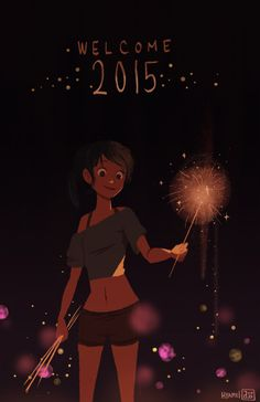 HAPPY NEW YEAR GUYS! managed to do something quick before midnight arrives on this side of the world! wishing you all good things for 2015!