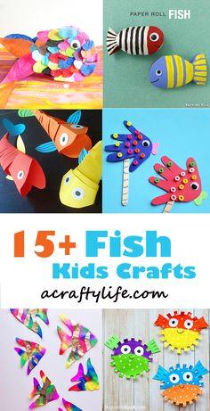 fish craft - ocean kid craft - crafts for kids- kid crafts - acraftylife.com #preschool Ocean Kids Crafts, Sea Crafts, Toddler Crafts, Crafts For Kids, Plate Crafts, Craft Activities For Kids, Preschool Crafts, Projects For Kids, Preschool Christmas