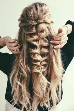 #hairstyles#braids#halfuphalfdown
