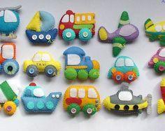 TECHICS felt magnets for kids Cars toys Kids car by DevelopingToys