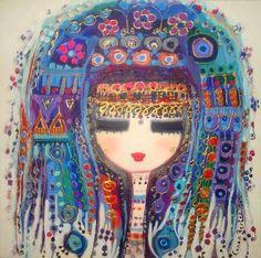 I love Turkish art! This is just one very talented artist. Illustrations, Illustration Art, Stylo 3d, Frida Art, Turkish Art, Turkish Beauty, Art Abstrait, Whimsical Art, Islamic Art