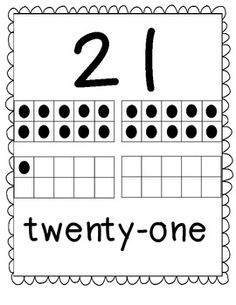 Here's a set of number posters from 21-40 with ten frames.