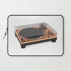 Golden Turntable Laptop Sleeve #turntable #gold #technics1200 #cgi #cg #render #c4d #3d #rickardarvius #laptopsleeve #cinema4d #society6 #society6store