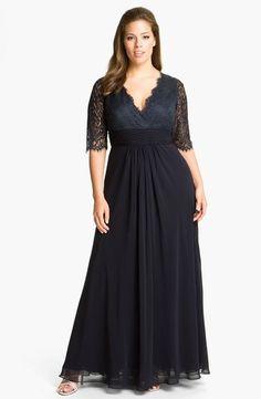 JS Collections Lace Chiffon Dress Size 16W Plus | eBay