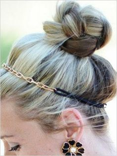 Braided Top Knot. Not anything fancy but it's cute! Oh... And I love the headband! ♥