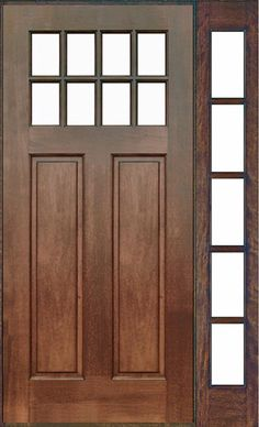 8lite mahogany door w 1 5lite full view sidelight