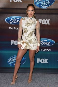 """Jennifer Lopez arrives at the """"American Idol XIV"""" finalists party at The District in Los Angeles on March 11, 2015."""