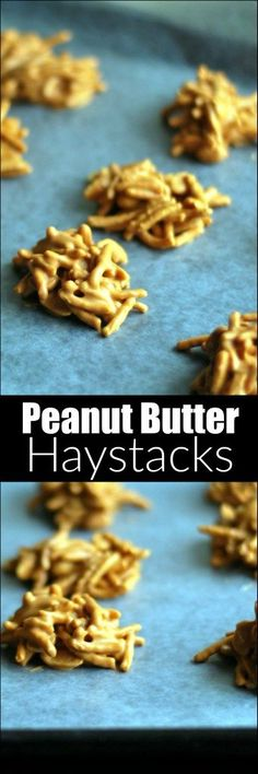These Peanut Butter Haystacks are a classic Christmas treat with only 4 ingredients!  So fun to make with the kiddos!