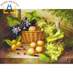 Full drill 5d diamond embroidery painting paint picture of rhinestones diamond mosaic cross-stitch fruit in basket decor AB391 #Affiliate