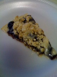 blueberry pizza. i love cooked blueberries!