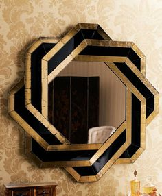 A beautiful mirror...gold and black
