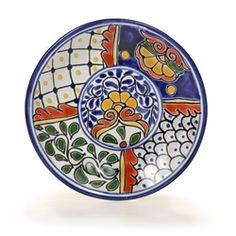 Mexican Talavera 6  Decorative Plate - Available in Four Designs  sc 1 st  Pinterest & Mexican Plate | Bright colors galore | Pinterest | Mexicans Pottery ...