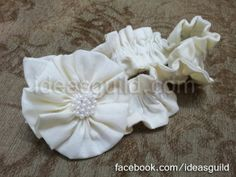 white cotton head band, perfect for summers