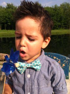 Little hipster vintage modern baby boy bowtie aqua by birdsnfellas, $12.00
