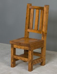 Barnwood Chair Wood Seat