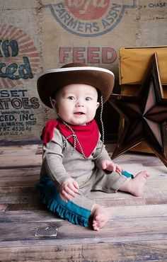 Hello little cowboy! We now offer adorable halloween costumes for baby boys!!