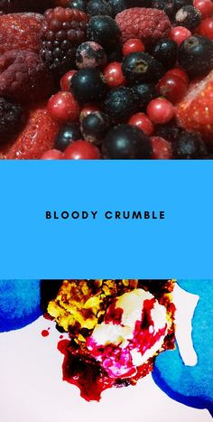 Bloody crumble with red berries, muesli and ricotta Red Berries, Muesli, Original Recipe, Rainy Days, Ricotta, Tart, Desserts, Recipes, Tailgate Desserts